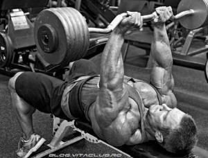 extensii triceps cu bara