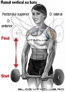 ramatul  vertical cu haltera este un exercitiu  pentru umeri
