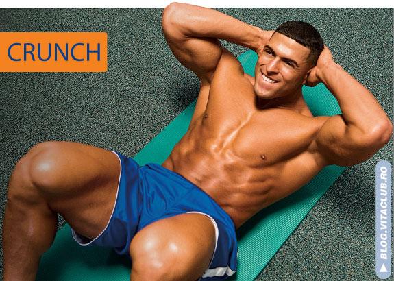 crunch-ul e un exercitiu foarte bun pentru abdomen