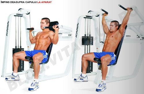 Program de exercitii in culturism si fitness pentru umeri la aparat