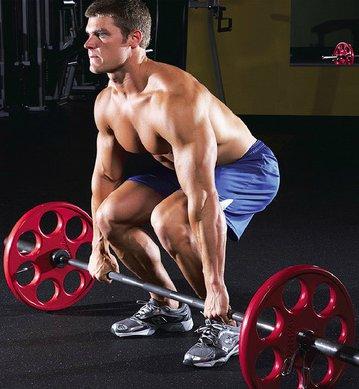 indreptarile cu haltera sunt un exercitiu foarte bun pentru muschii picioarelor