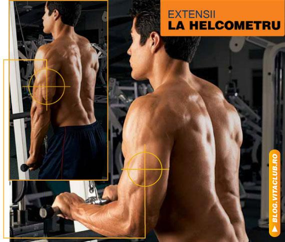 exercitii pentru triceps la helcometru