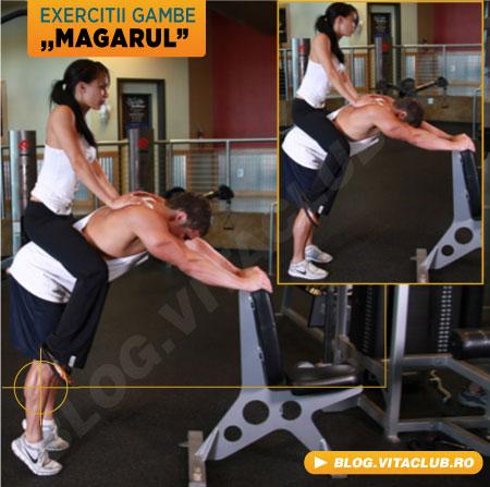exercitii pentru gambe cu o persoana in spate