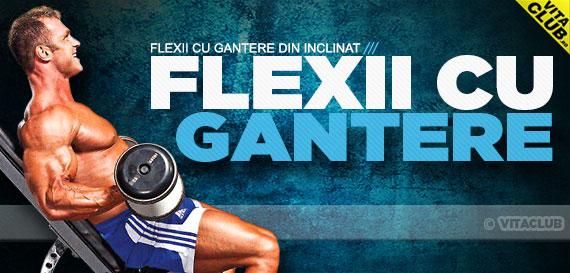 cum se fac flexiile cu gantere din inclinat pentru biceps