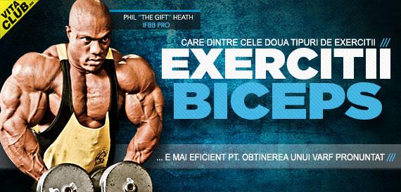 ce exercitii sa fac pentru un biceps mai mare