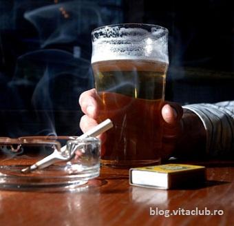 alcoolul amplifica efectele nicotinei