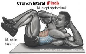 cum trebuie sa fac corect crunch lateral