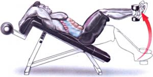 abdomene la banca declinata cu gantera intre picioare
