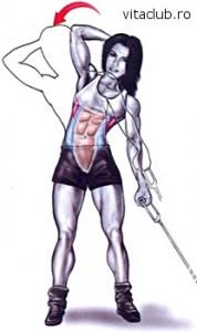 aplecari laterale la cablu pentru muschii oblici