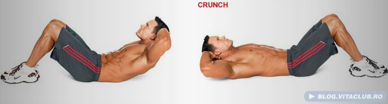 crunch-ul e un exercitiu pentru abdomen foarte eficient