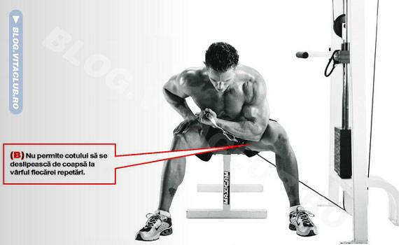 program de exercitii pentru biceps la cablu