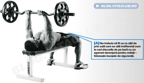 extensiile cu bara EZ sunt un exercitiu excelent pentru triceps