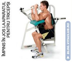 exercitii pentru muschiul triceps efectuat la aparat