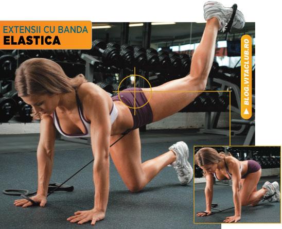 exercitii pentru fesieri cu banda elastica