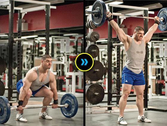 antrenament pentru tot corpul cu exercitii folosite la haltere